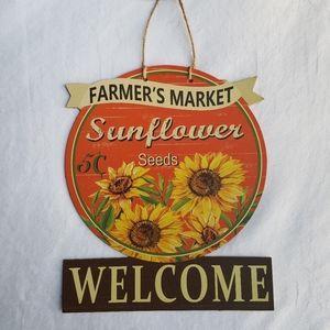 New! Farmer's Market Sunflower Welcome Sign